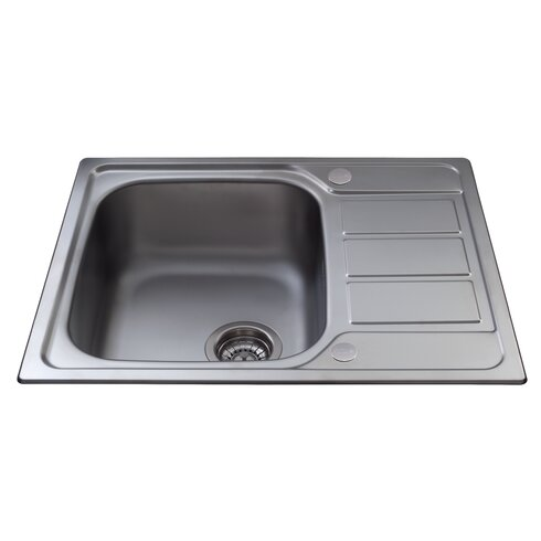 62 cm x 50 cm Single Bowl Kitchen Sink with Mini Drainer