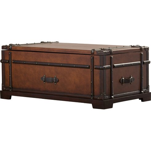 Delavan Steamer Coffee Table Trunk with Lift Top - Darby Home Co Delavan Steamer Coffee Table Trunk With Lift Top