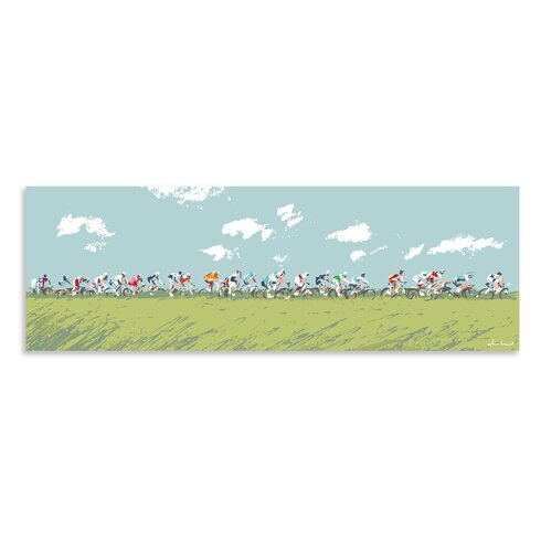 The Peleton by James Lord Art Print Wrapped on Canvas