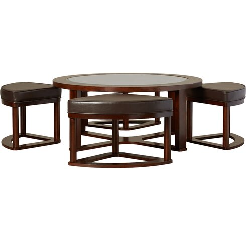 Eastin 5 Piece Coffee Table and Stool Set - Darby Home Co Eastin 5 Piece Coffee Table And Stool Set & Reviews