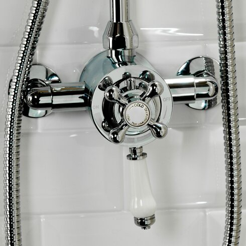 Traditional Single Exposed Thermostatic Shower Valve