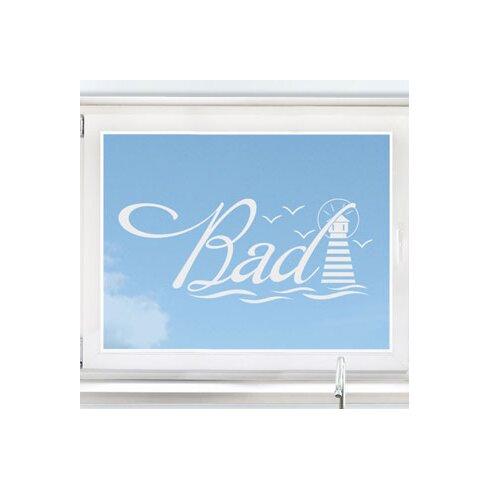 Glastattoo Schriftzug Bad