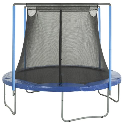 12' Round Trampoline Net Using 2 Poles or 2 Arches