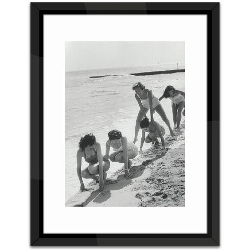 Models Playing Leap Frog Framed Photographic Print
