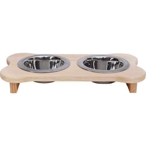 Wooden Elevated Cat Feeder Made in USA