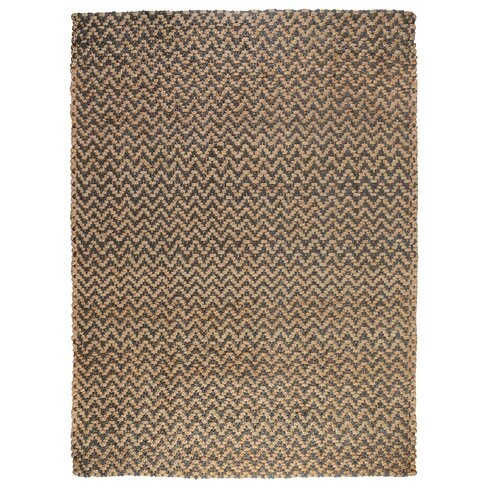 Chevron Gray Handspun Outdoor Area Rug