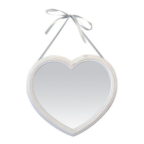 Heart Mirror with Wreath