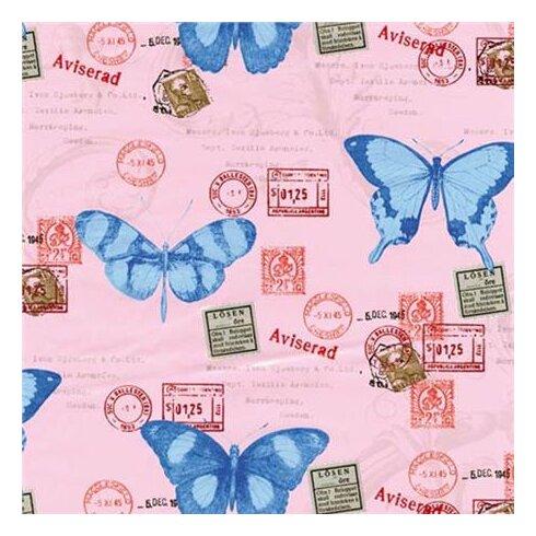 45 cm x 2m Roll Butterflies Sticky Back Plastic Film