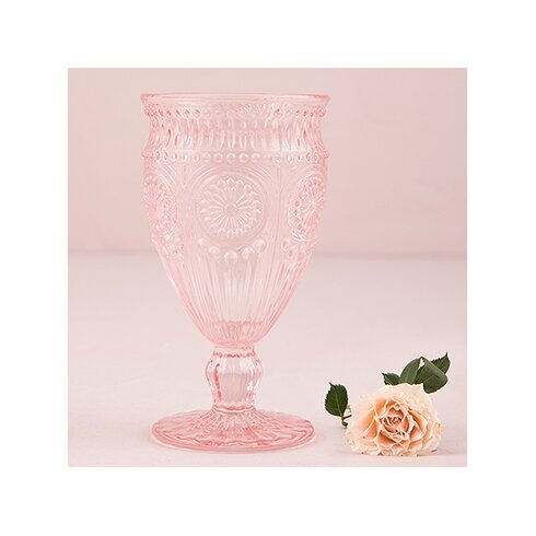 pink wine glass goblet