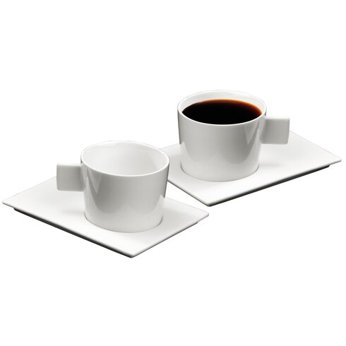 Geo American Coffee Cup and Saucer Set