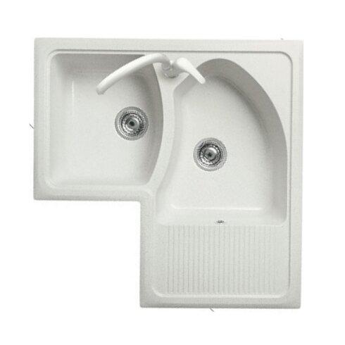 Domino 83cm x 83cm Corner Kitchen Sink