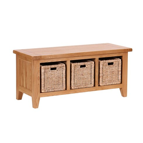 Millais Petite Wood Storage Hallway Bench