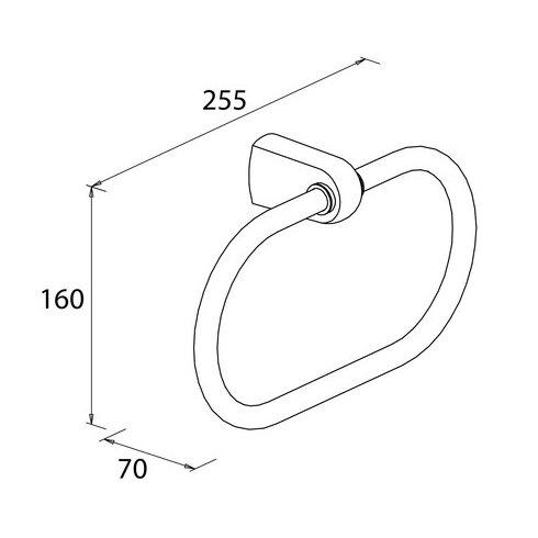 Metasoft Wall Mounted Towel Ring
