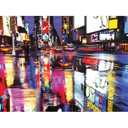 Times Square Colours Canvas Wall Art