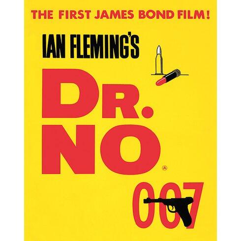 James Bond - Dr. No Vintage Advertisement Canvas Wall Art