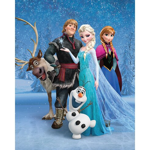 Frozen - Group Vintage Advertisement Canvas Wall Art