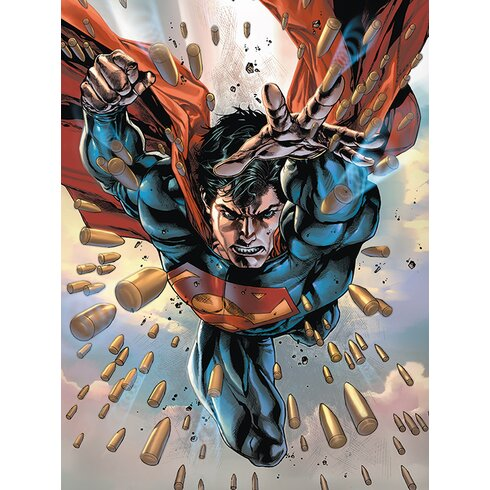 Superman - 75th Vintage Advertisement Canvas Wall Art