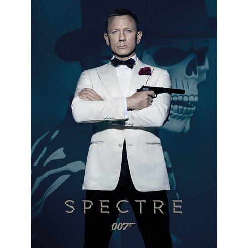 James Bond - Spectre - SkullVintage Advertisement Canvas Wall Art