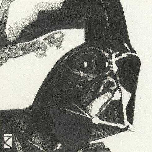 Star Wars - Darth Vader Sketch Canvas Wall Art