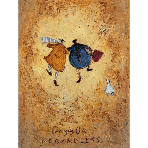 'Carrying on Regardless' by Sam Toft Wall art on Canvas