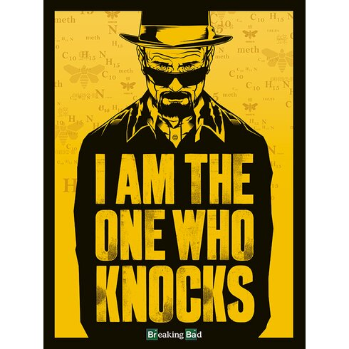 Breaking Bad - I am the One Who Knocks Canvas Wall Art