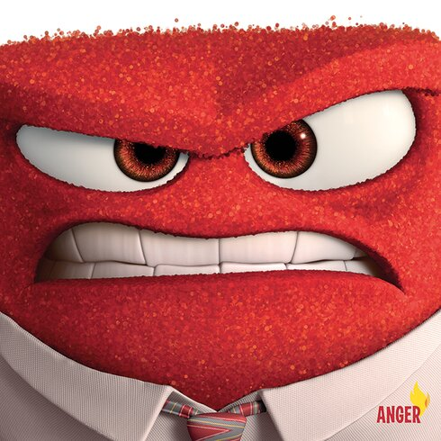 Inside Out - Anger Vintage Advertisement Canvas Wall Art