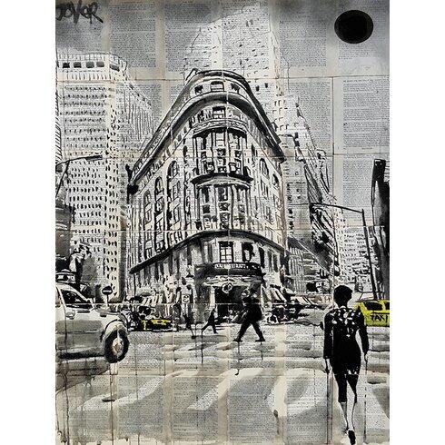 Loui Jover - Midtown Walk Canvas Wall Art