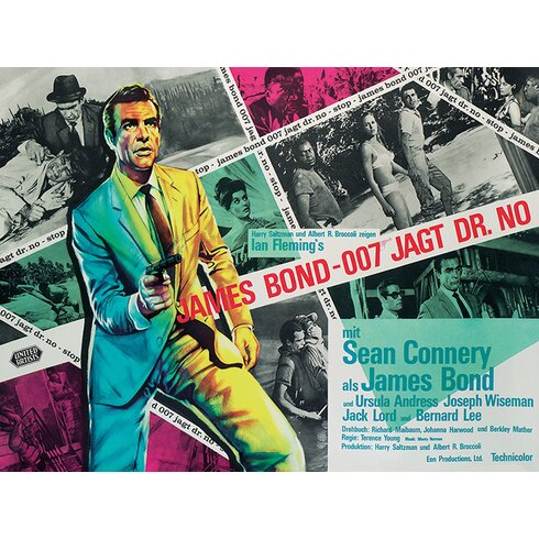 James Bond - Dr. No - Montage Vintage Advertisement Canvas Wall Art