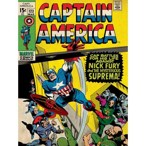 Captain America - Supreman Vintage Advertisement Canvas Wall Art