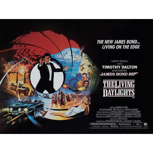 James Bond - The Living Daylights - Living on the Edge Vintage Advertisement Canvas Wall Art