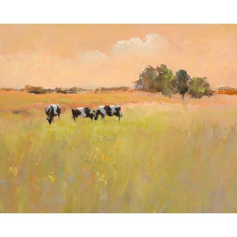 """Kunstdruck """"Three Cows"""" von Jan Groenhart"""