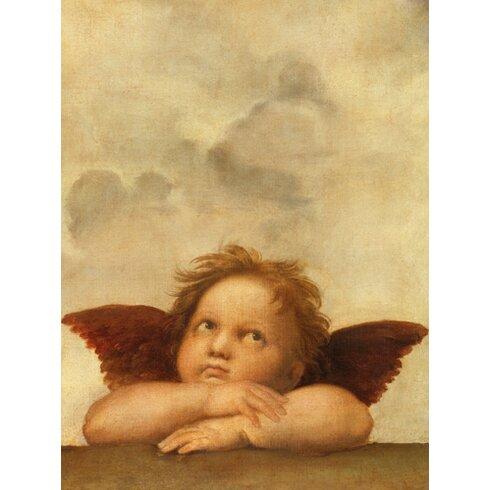 """Kunstdruck """"Die Sixtinische Madonna (Detail) VI"""" von Raffael"""