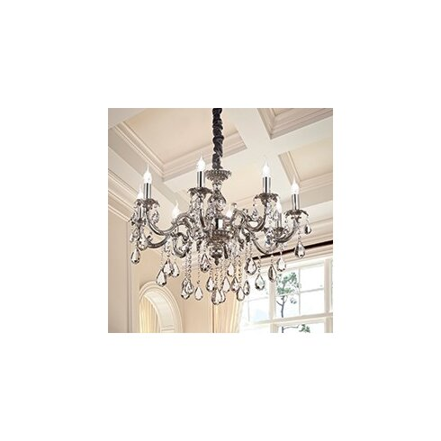 Impero 8 Light Crystal Chandelier