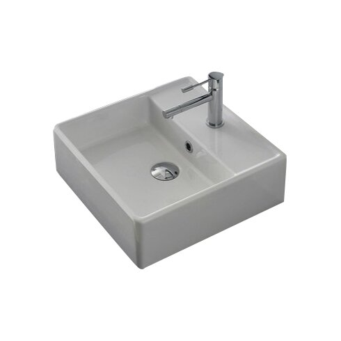 Scarabeo by Nameeks Teorema Ceramic 17 Wall Mounted Sink with