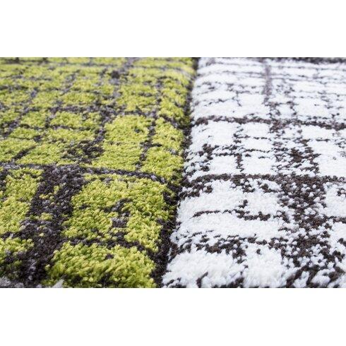 Teppich Lauris in Grün/Schlamm