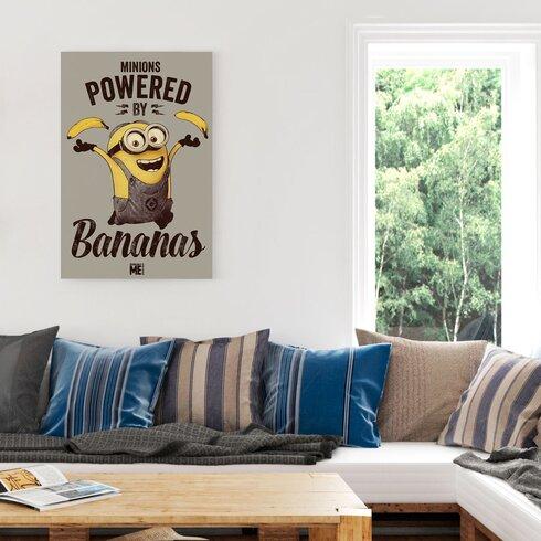 Ich Einfach Unverbesserlich Angetrieben von Bananen Graphic Print Decorative Plaque