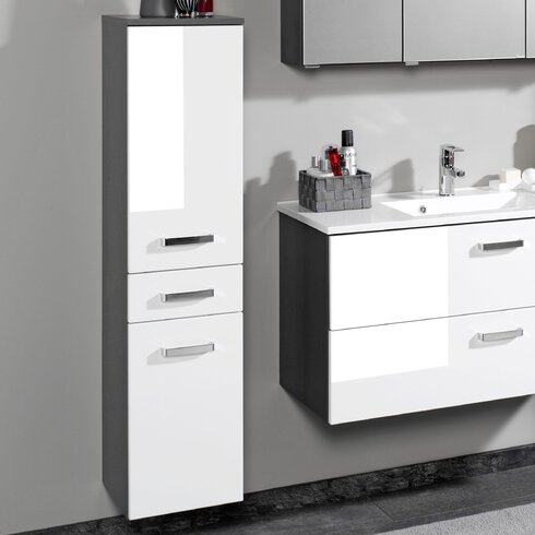 Bologna Wall Mounted Vanity Unit with Mirror and Tap