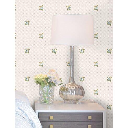 Ebony 10m L x 53cm W Floral and Botanical Roll Wallpaper