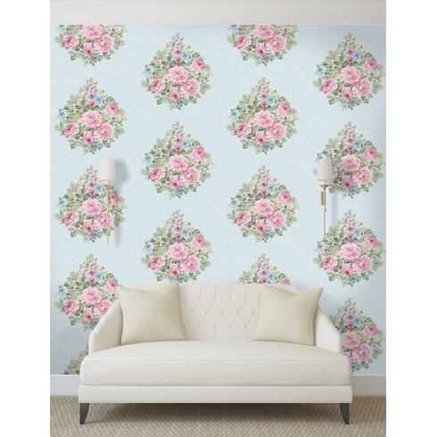 Harper 10m L x 53cm W Floral and Botanical Roll Wallpaper