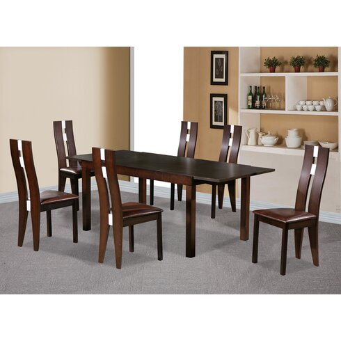 Baltic Extendable Dining Set with 6 Chairs