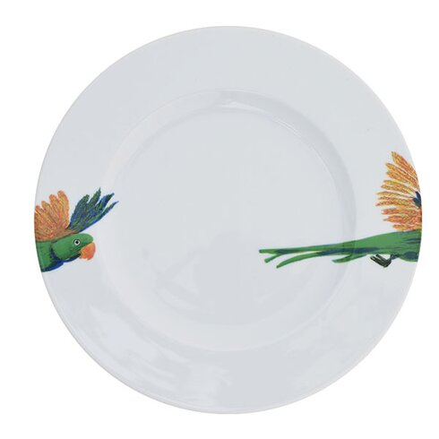Birds of Paradise Lovebird Head and Tail Dinner Plate