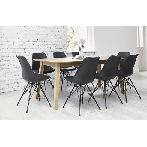 Indiana Dining Table and 8 Chairs