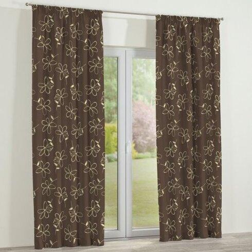Flowers/Luna Single Curtain