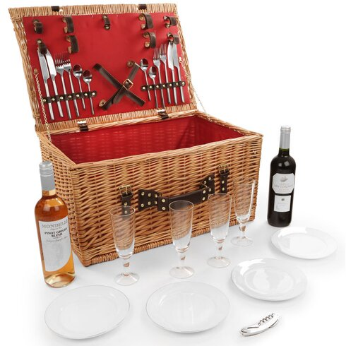 Newbury Willow Picnic Hamper for Four People