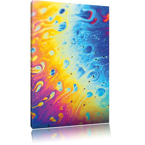 Bright Colours Graphic Art on Canvas