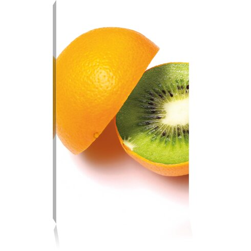 Orange Kiwi Fruit Photographic Print on Canvas