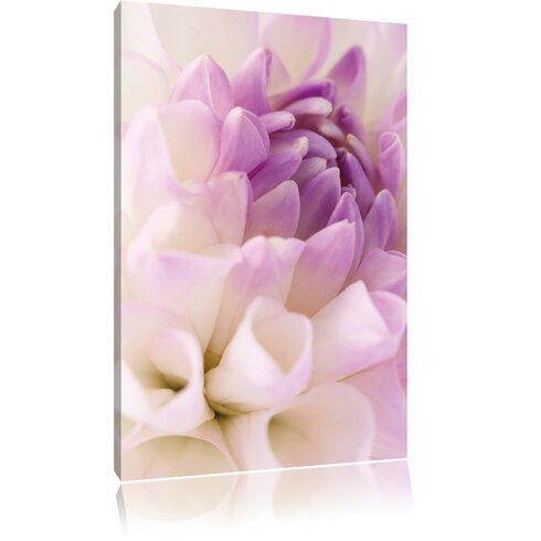 Dreamlike Purple White Flower Photographic Print on Canvas