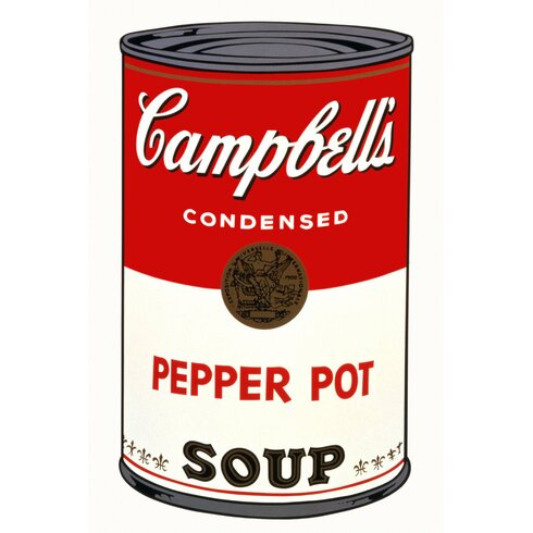 Andy's Famous Campbells Soup Vintage Advertisement Wrapped on Canvas