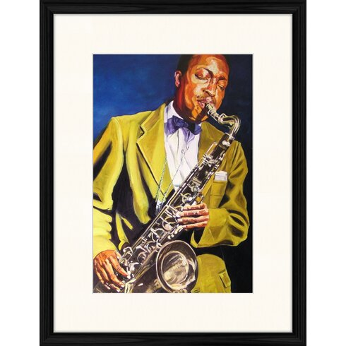 Painting of Hank Mobley Framed Art Print