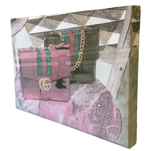 """Fashion """"Bag Selection"""" Graphic Art Wrapped on Canvas"""